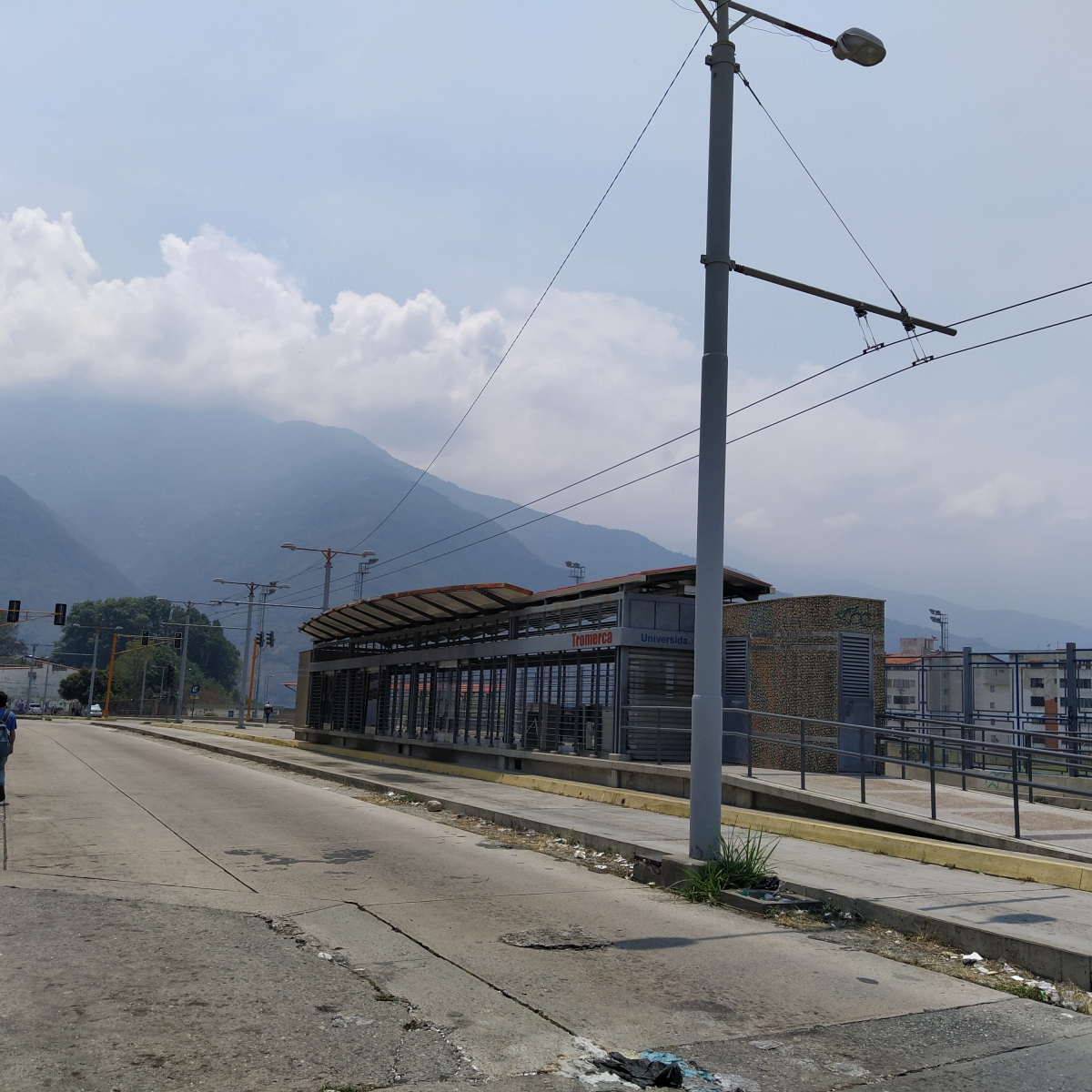Most public transport has also been halted, with this normally highly-used tram network looking abandonded in Merida City, Merida State. (Paul Dobson / Venezuelanalysis)