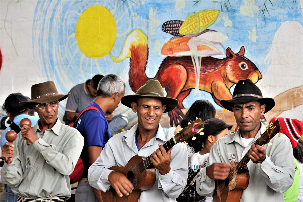 Murals and music at the Peasant Seed Festival