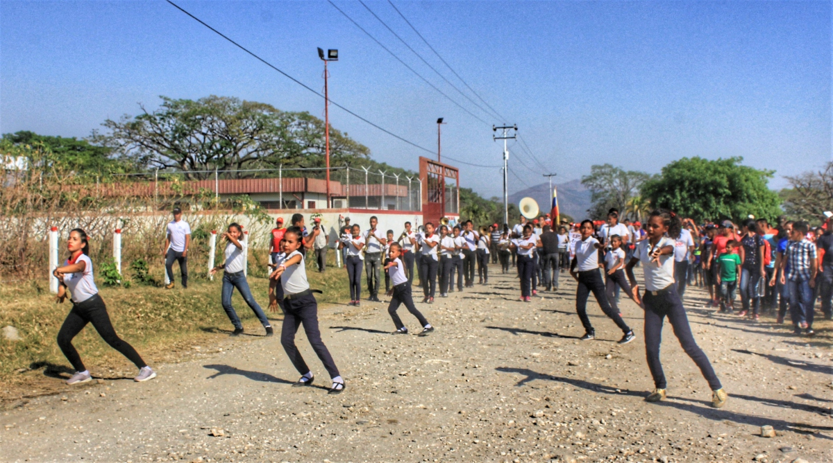 Anniversary of El Maizal Commune: Marching band