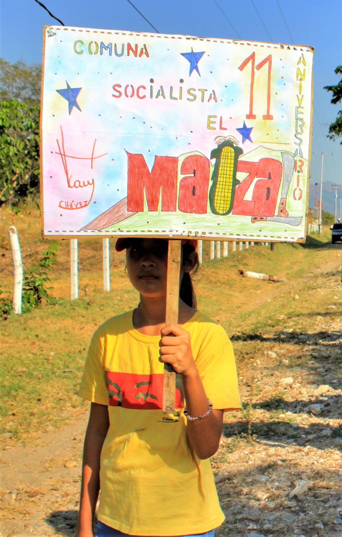 Anniversary of El Maizal Commune: Young communard