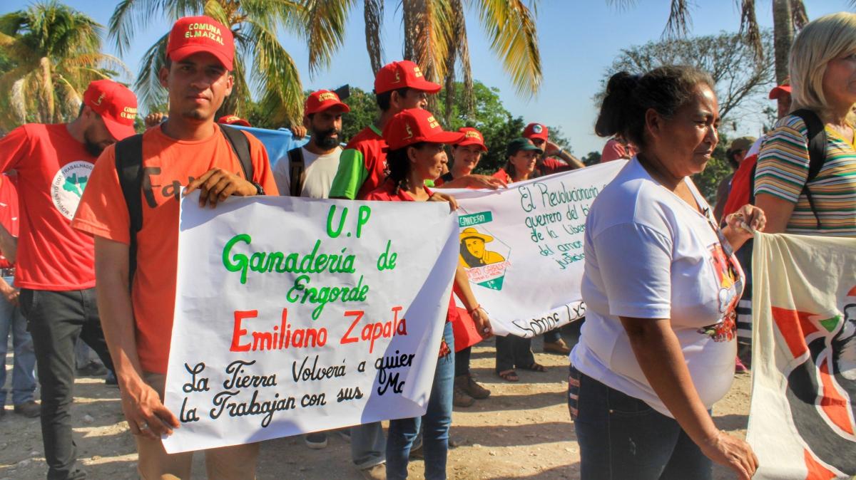 Anniversary of El Maizal Commune: Emiliano Zapata production unit