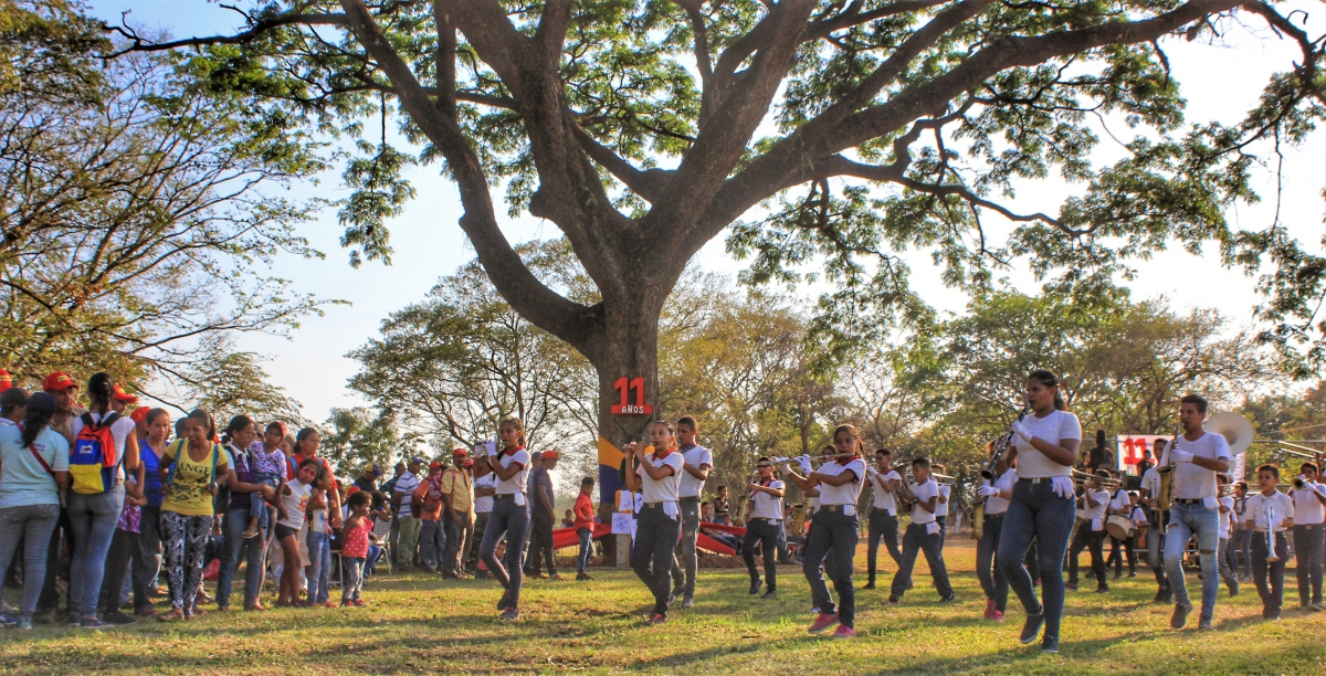 Anniversary of El Maizal Commune: Marching band retires