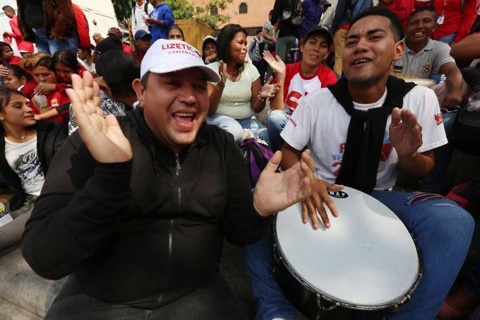 The rally was full of colour and music as the Venezuelan electoral 'party' begins. (Gregorio Terán/AVN)