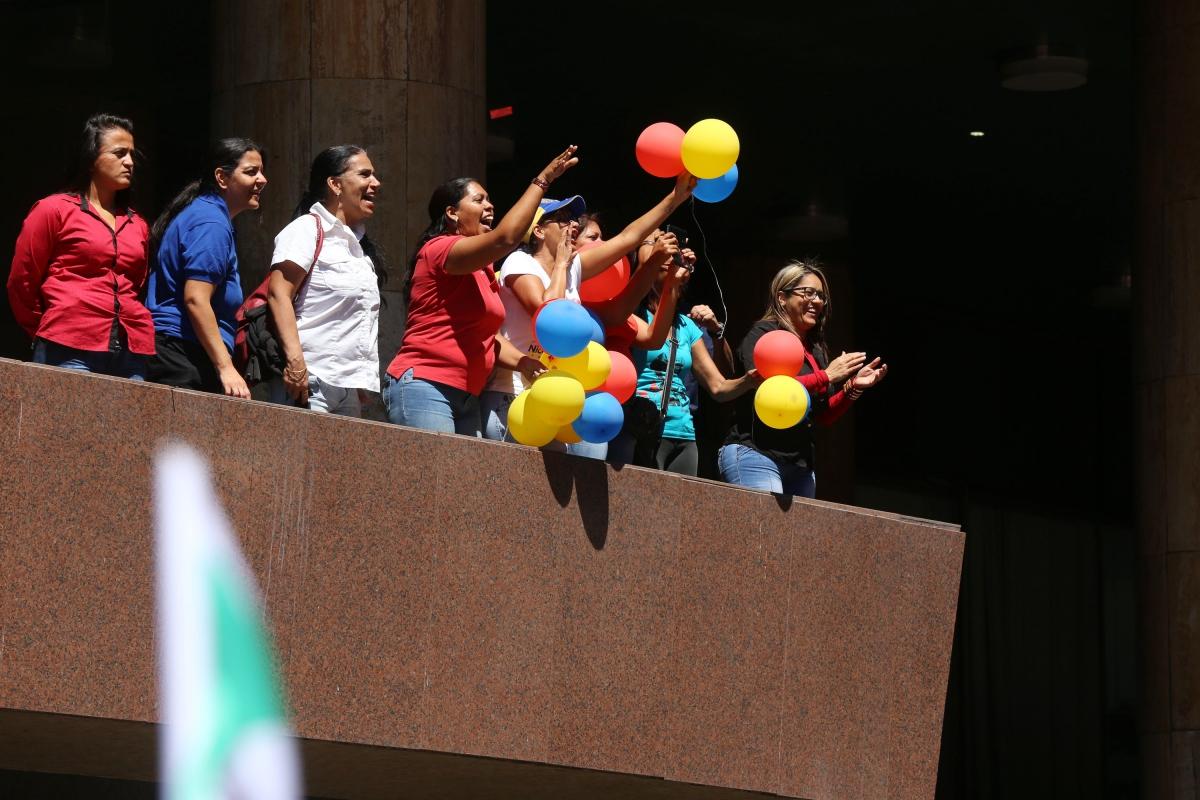 Women, as always, played a key part in the massive rally. (Rosalia Barreto/AVN)