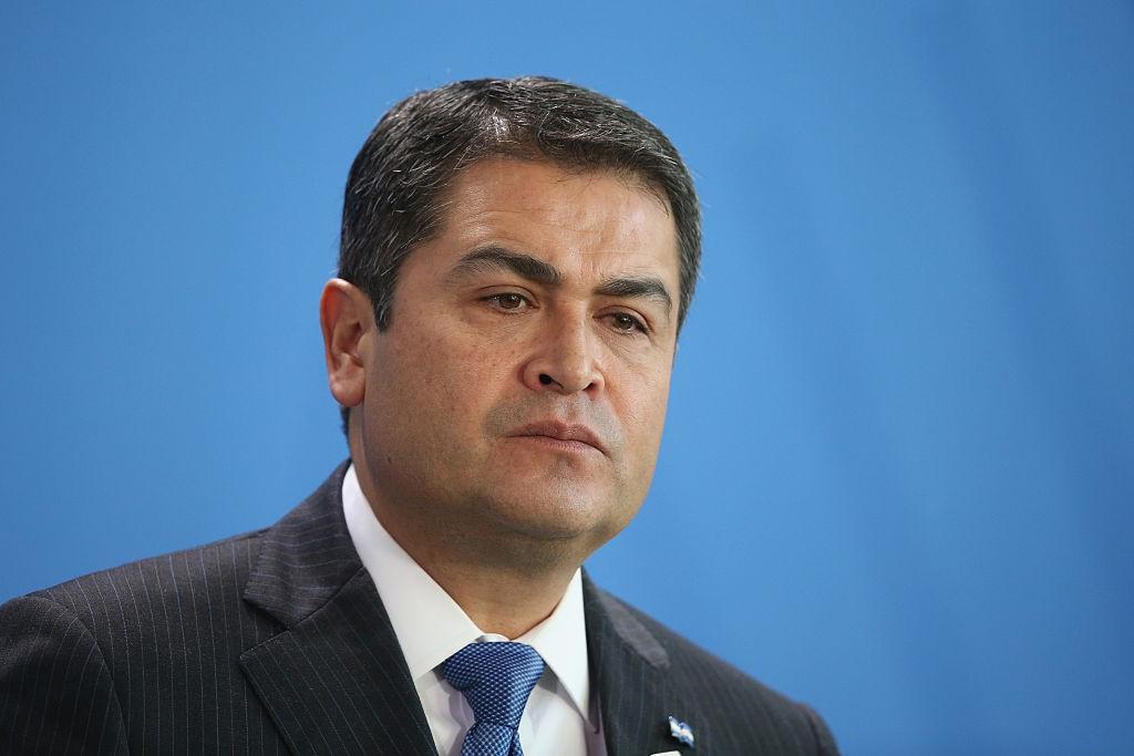 Honduran President Juan Orlando Hernandez. (Sean Gallup)