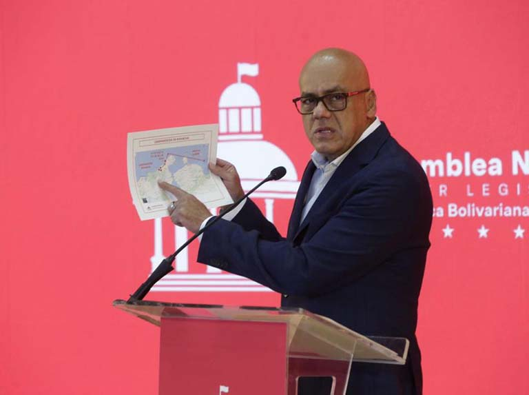 National Assembly President Jorge Rodriguez blasted opposition leaders for coup attempts. (MPPCI)