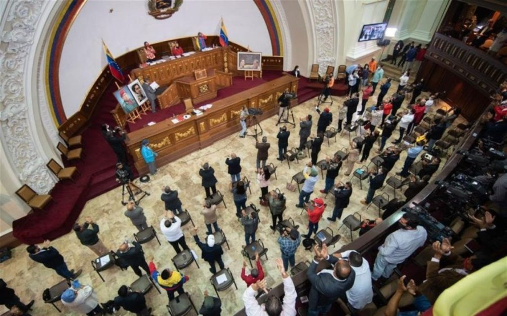 The Anti-blockade Law passed unanimously in a poorly-attended session of the National Constituent Assembly on October 9, 2020. (El Impulso)