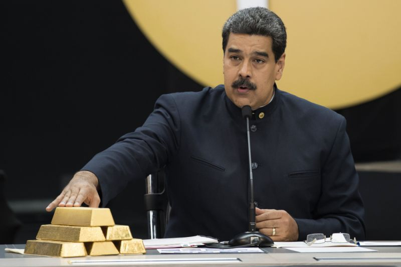 President Nicolas Maduro announces gold savings plan in 2019. (Bloomberg)