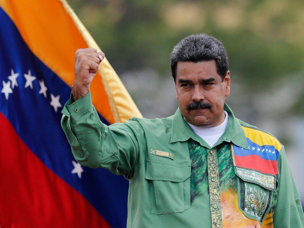 Socialist incumbent Nicolas Maduro was elected to a second term on May 20 with an over two-thirds majority. (AP)