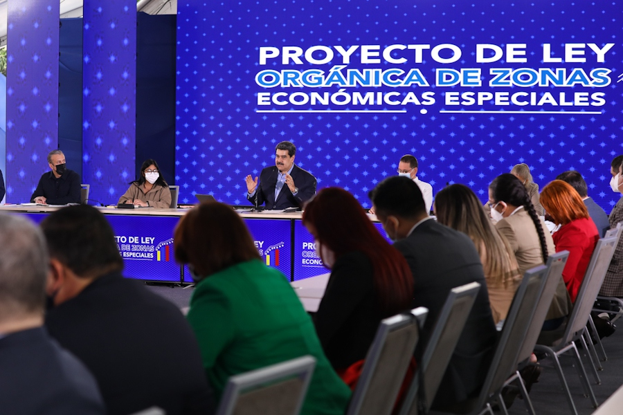President Maduro stated that special economic zones are part of the country's efforts to overcome the current crisis and adapt to a post-sanctions future. (Twitter/@PresidencialVen)