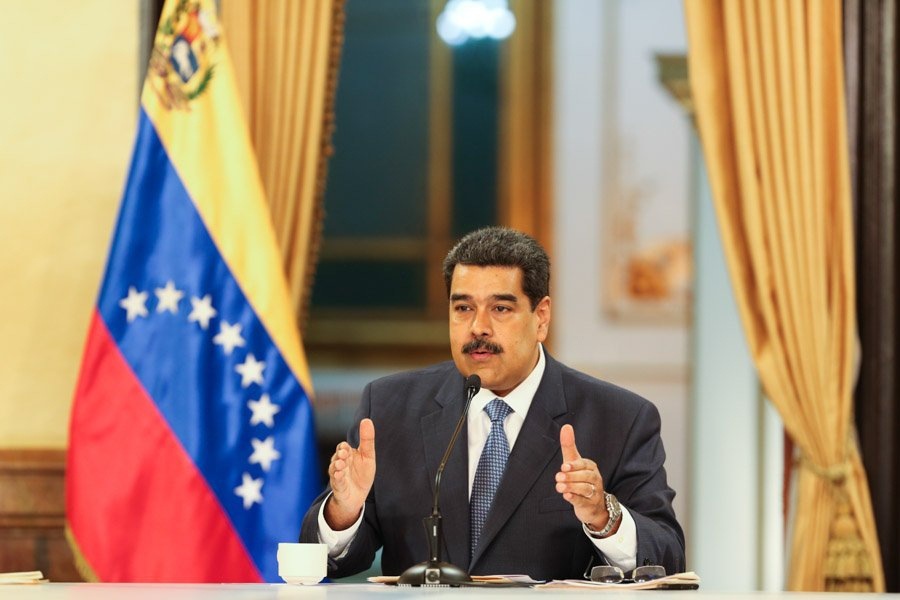 Maduro's live broadcast contained a series of economic announcements. (Presidential Press)