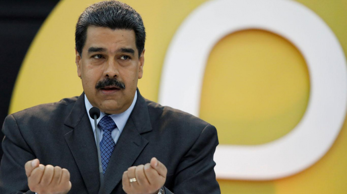 President Nicolas Maduro in a televised speech about the Petro