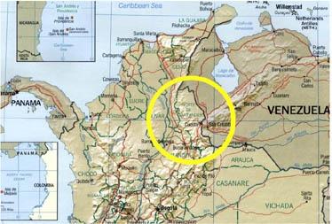 The Catatumbo region, and the Catatumbo river, crosses the Colombo-Venezuelan border.