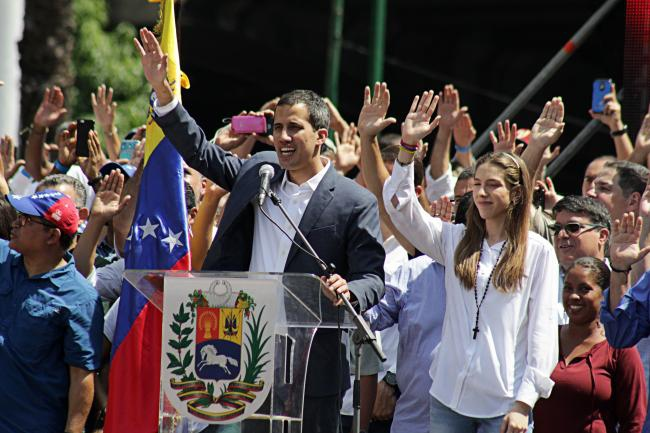 February 2, 2019 rally for Juan Guaidó. (Alex Coco/Wikipedia Commons)