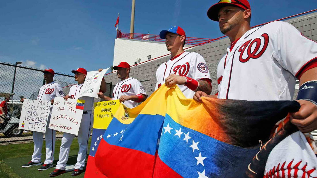 A number of Venezuelan baseball players based in the US will not be allowed to return to play in the Venezuelan league following a decision by the MLB. (AP)
