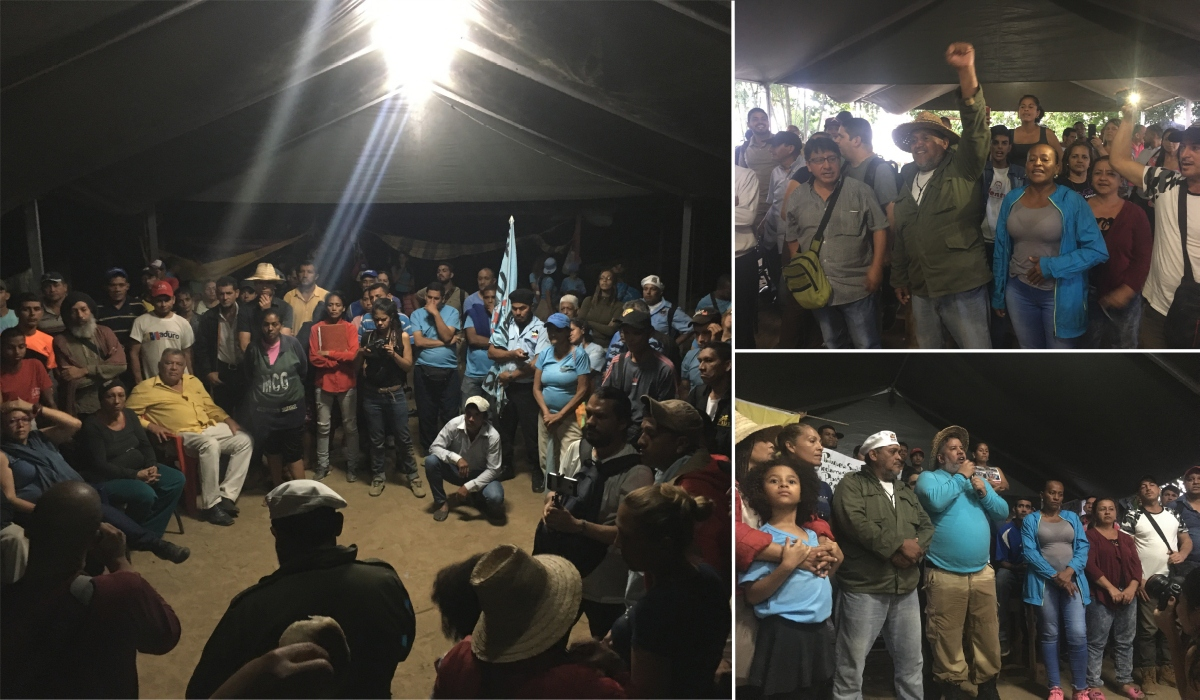 A popular assembly featuring campesino and Caracas' movements on July 17 looked to build unity and plan upcoming activities. (Ricardo Vaz)