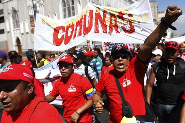 Chavista march in Caracas. (Archive)