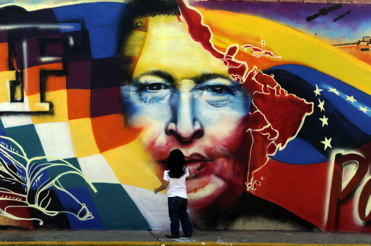 Mural in Caracas. (Archive)