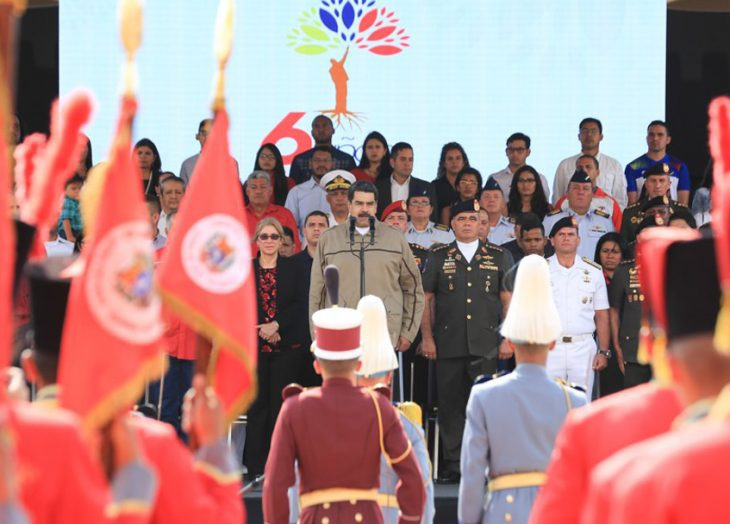 Maduro speaks at the 6th anniversary of the passing of Hugo Chavez in the Mountain Barracks (Presidential Press)