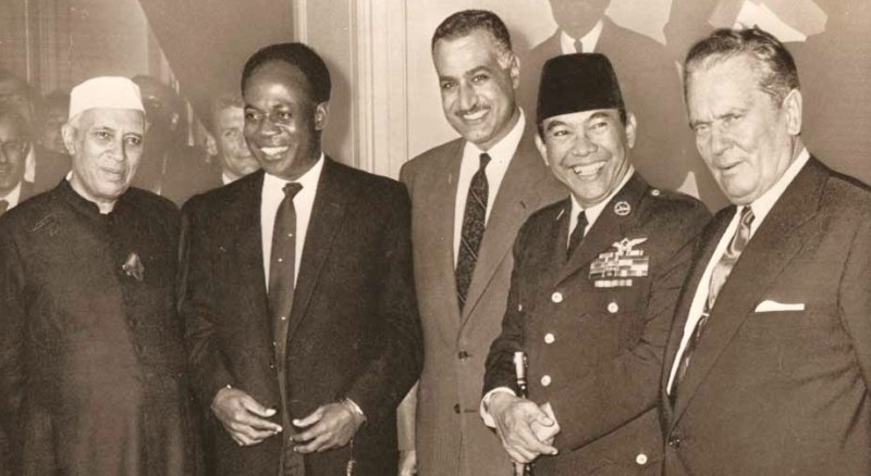From left to right Jawaharlal Nehru, Kwame Nkrumah, Gamal A. Nasser, Sukarno, Josip Broz Tito, founders of the Non-Aligned Movement. New York, September 30, 1960. (Archive)