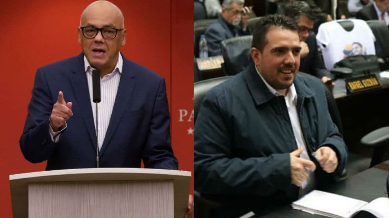 Communications Minister Jorge Rodriguez (left) and National Assembly Vice President Stalin Gonzalez (right) have reportedly taken part in government-opposition talks in Norway. (Archive)