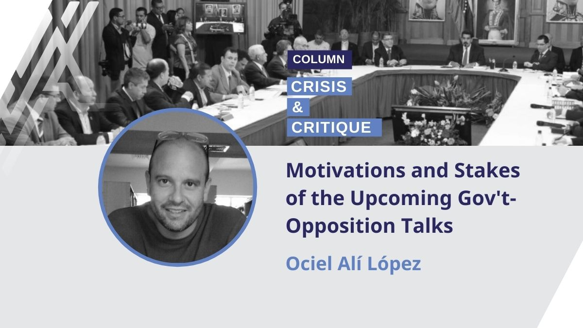 What's at stake in the government-opposition talks? Ociel López breaks it down. (Venezuelanalysis)