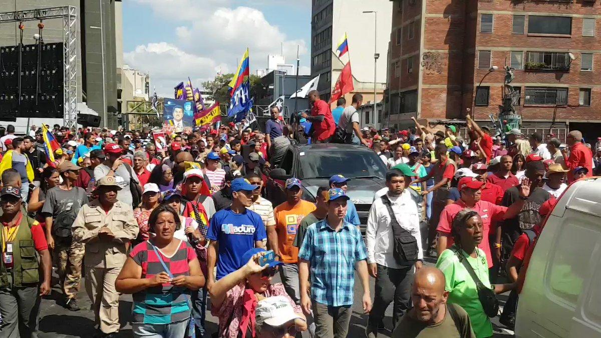 A Chavista march in March 2019. (@OrlenysOV)