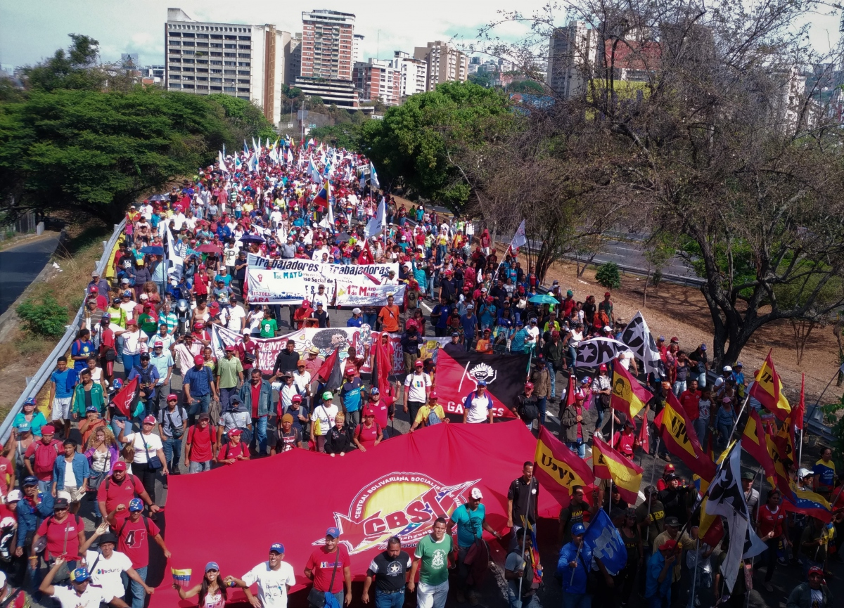 Chavista mobilization on May 1st (Katrina Kozarek/Venezuelanalysis)
