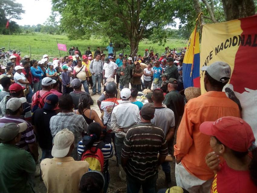 An assembly of campesino farmers in Merida state on April 20