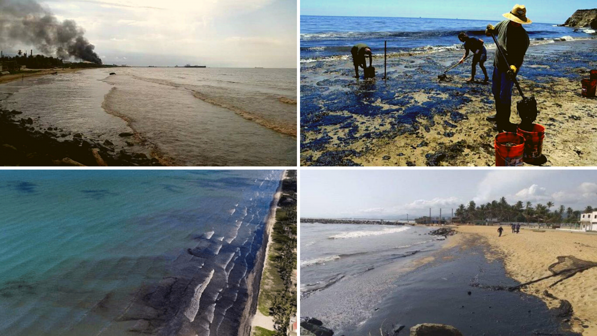 For two weeks oil has been spilling from El Palito refinery onto the coasts of Carabobo and Falcon states, including Morrocoy National Park. (El Carabobeño)
