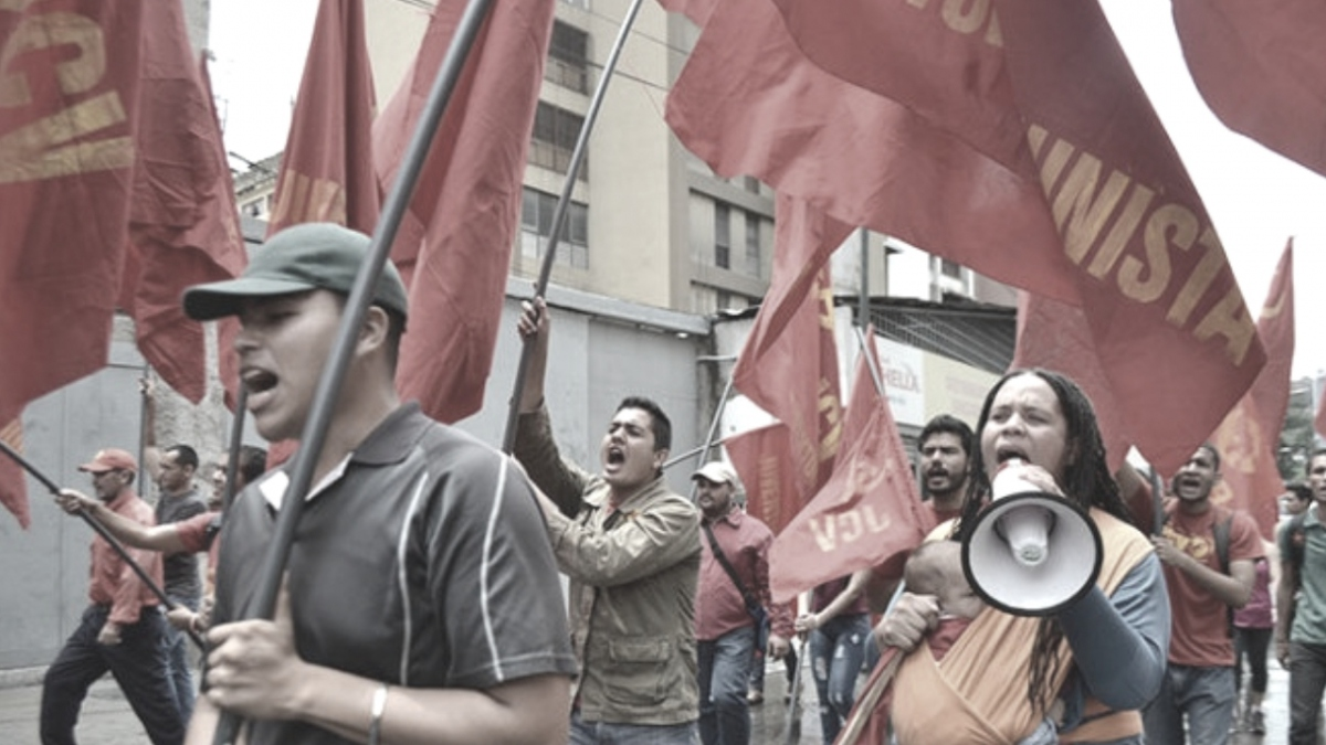 A May Day Communist Youth march in Caracas, 2018. (Tribuna Popular)