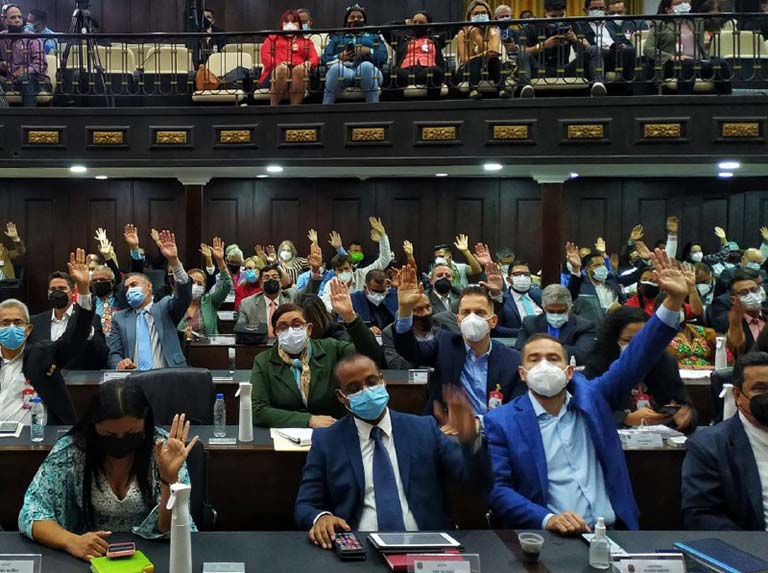 The Venezuelan National Assembly approved a law to set up a Communal Parliament. (Wilmer Errades / Últimas Noticias)