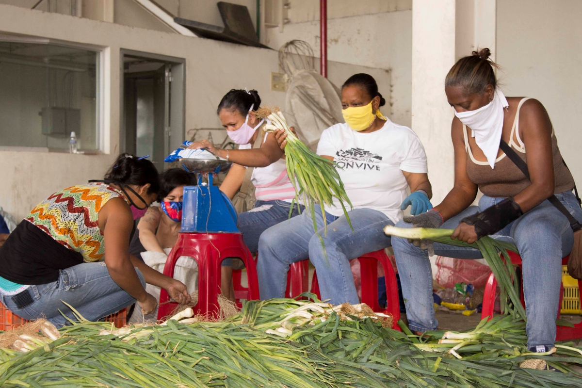 Chavista grassroots organisations are mobilising amid the coronavirus pandemic. (Maureen Riveros / CUSAC)