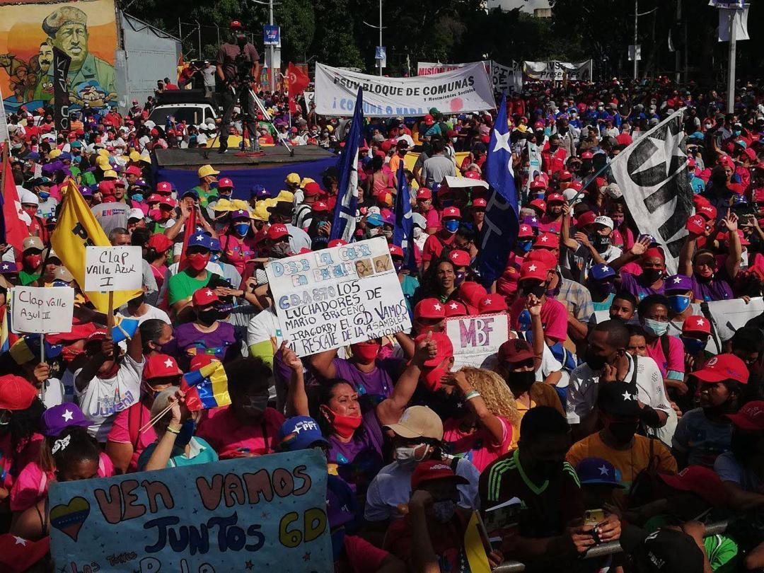 The pro-government alliance held a closing rally in Caracas. (PSUV)