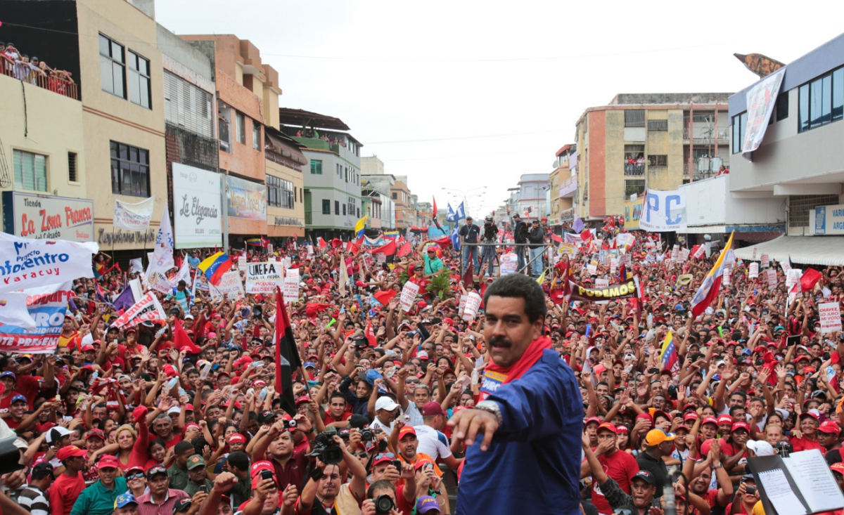 Maduro on the campaign trail for this May 20 election in Propatria, western Caracas