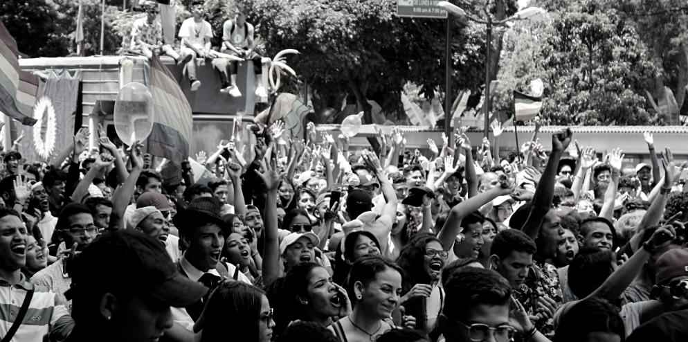 Pride Parade in Caracas, 2019. (Katrina Kozarek/Venezuelanalysis)