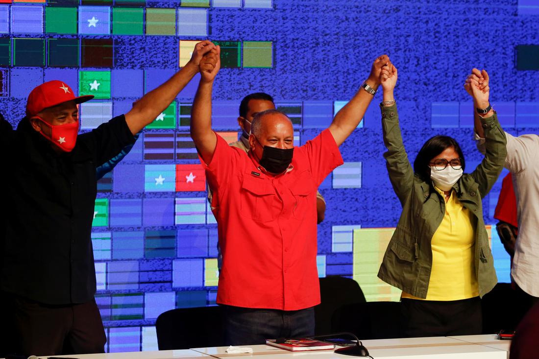 Venezuela's United Socialist Party (PSUV) secured a landslide victory on December 6. (Reuters)