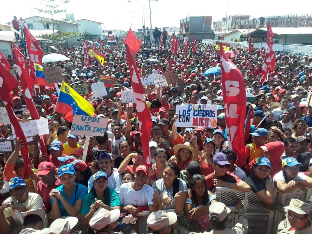 Chavista rally in Apure on January 29. (PSUV)