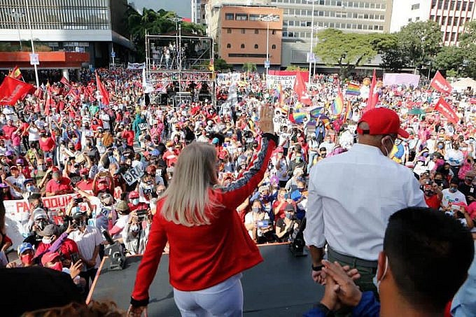 The pro-government GPP launched its campaign in Caracas on Tuesday. (PSUV)