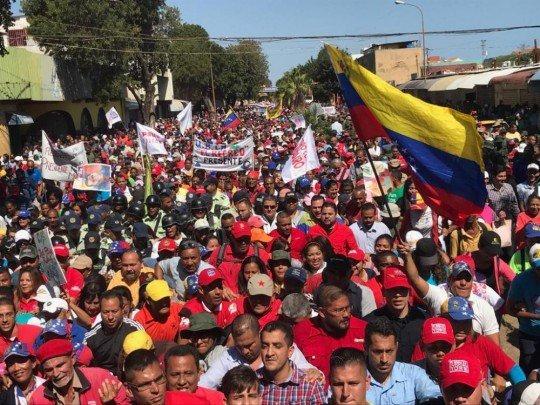 Chavista march in Falcon State (PSUV)