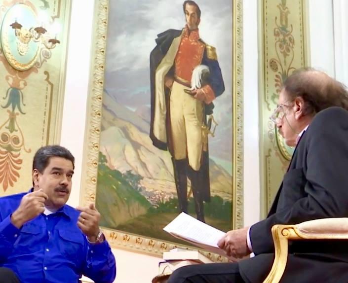 President Maduro talks to Ignacio Ramonet in Caracas (Ignacio Ramonet / Facebook)