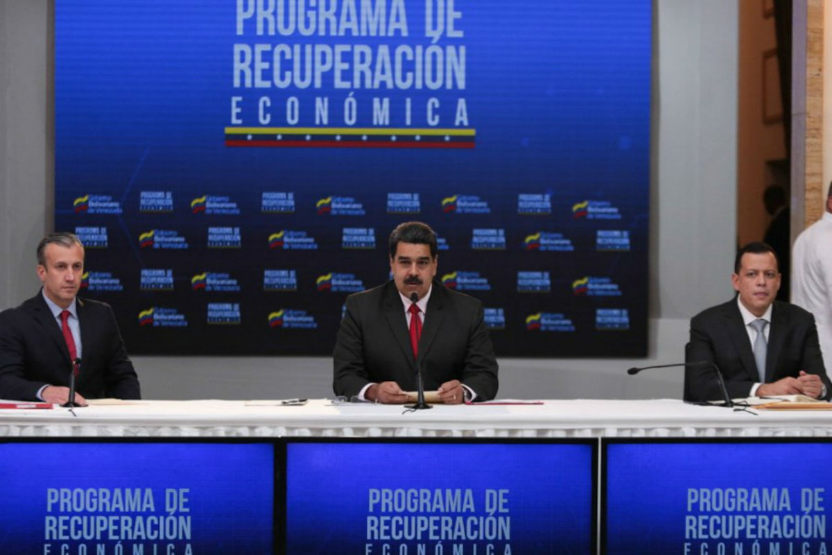 President Nicolas Maduro announces the Economic Recovery Plan. (Correo del Orinoco)
