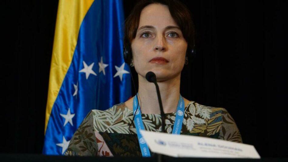 UN Special Rapporteur Alena Douhan while in Caracas. (PDN)