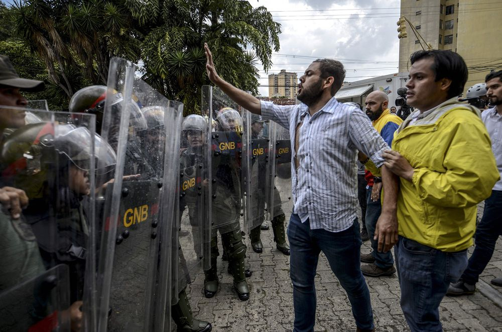 Juan Requesens was a leading figure in the opposition's violent street protests in 2014 and 2017. (Juan Barreto / AFP)