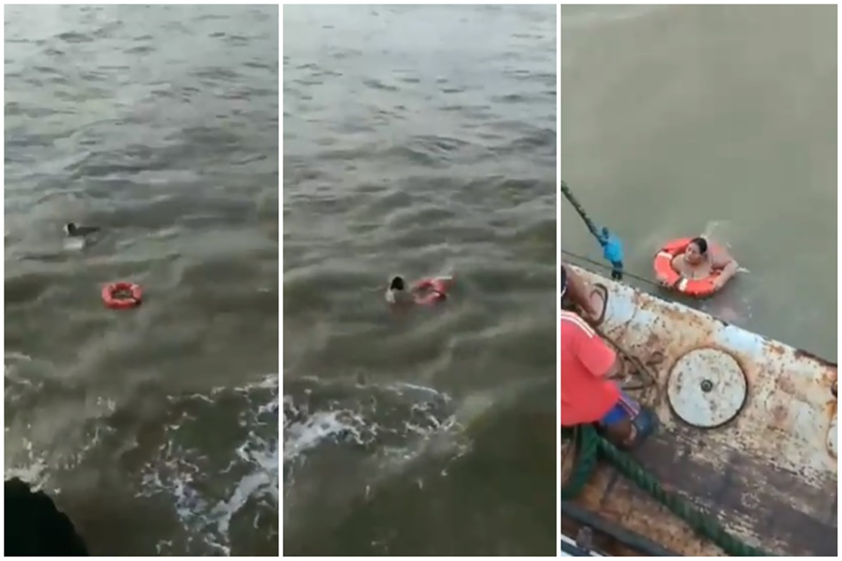 Images of passengers being rescued by coast guard and private sailors circulated on social media. (NTN24)