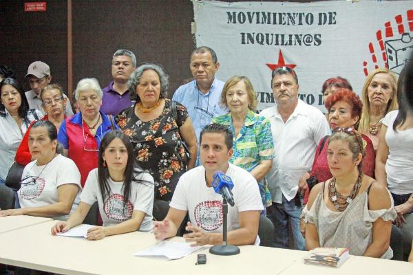 Movimiento de Inquilinas press conference. (Movimiento de Inquilinas)