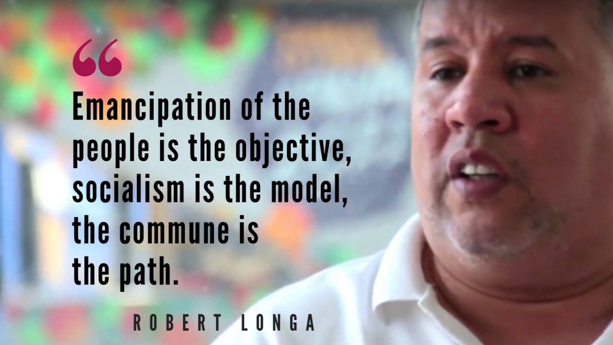 Robert Longa of the Alexis Vive Patriotic Force and El Panal Commune. (Venezuelanalysis)