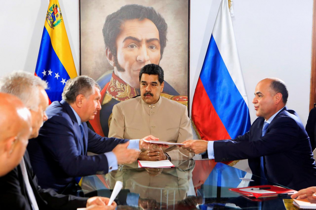Rosneft will take part in natural gas production in Venezuela. (Reuters)