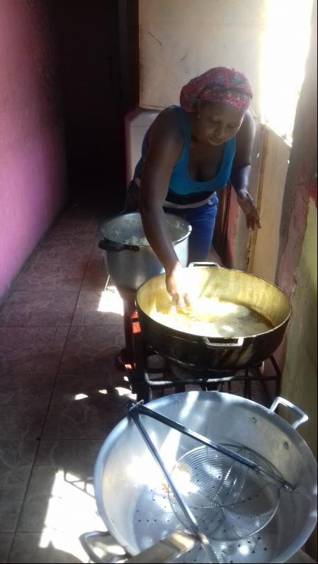 Preparing to cook arepas. (Ana Felicien)