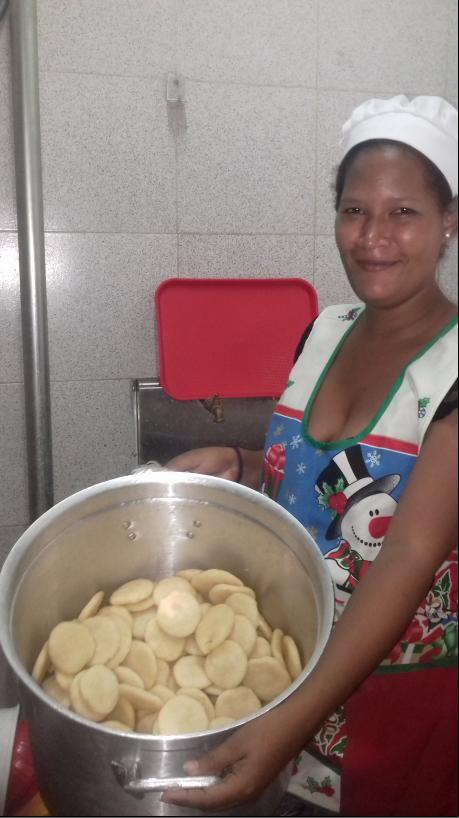 A big pot of arepas. (Ana Felicien)